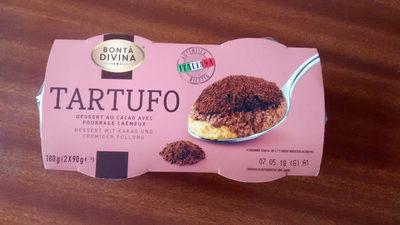 Tartufo, dessert au cacao avec fourrage crémeux - Product
