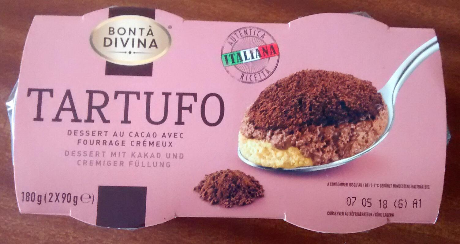 Tartufo, dessert au cacao avec fourrage crémeux - Product - fr
