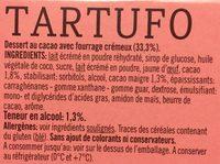 Tartufo, dessert au cacao avec fourrage crémeux - Ingredients - fr