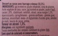 Tartufo 2x90g +1 Gratuit - Ingredients