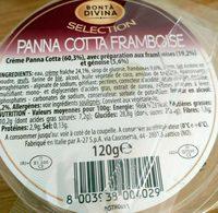 Panna Cotta Framboise - Product - fr