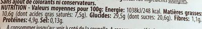 Bonta Divina Selection Tiramisu le pot de 100 g - Nutrition facts