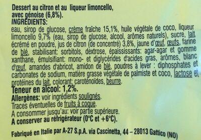 Dessert au Citron - Inhaltsstoffe - fr