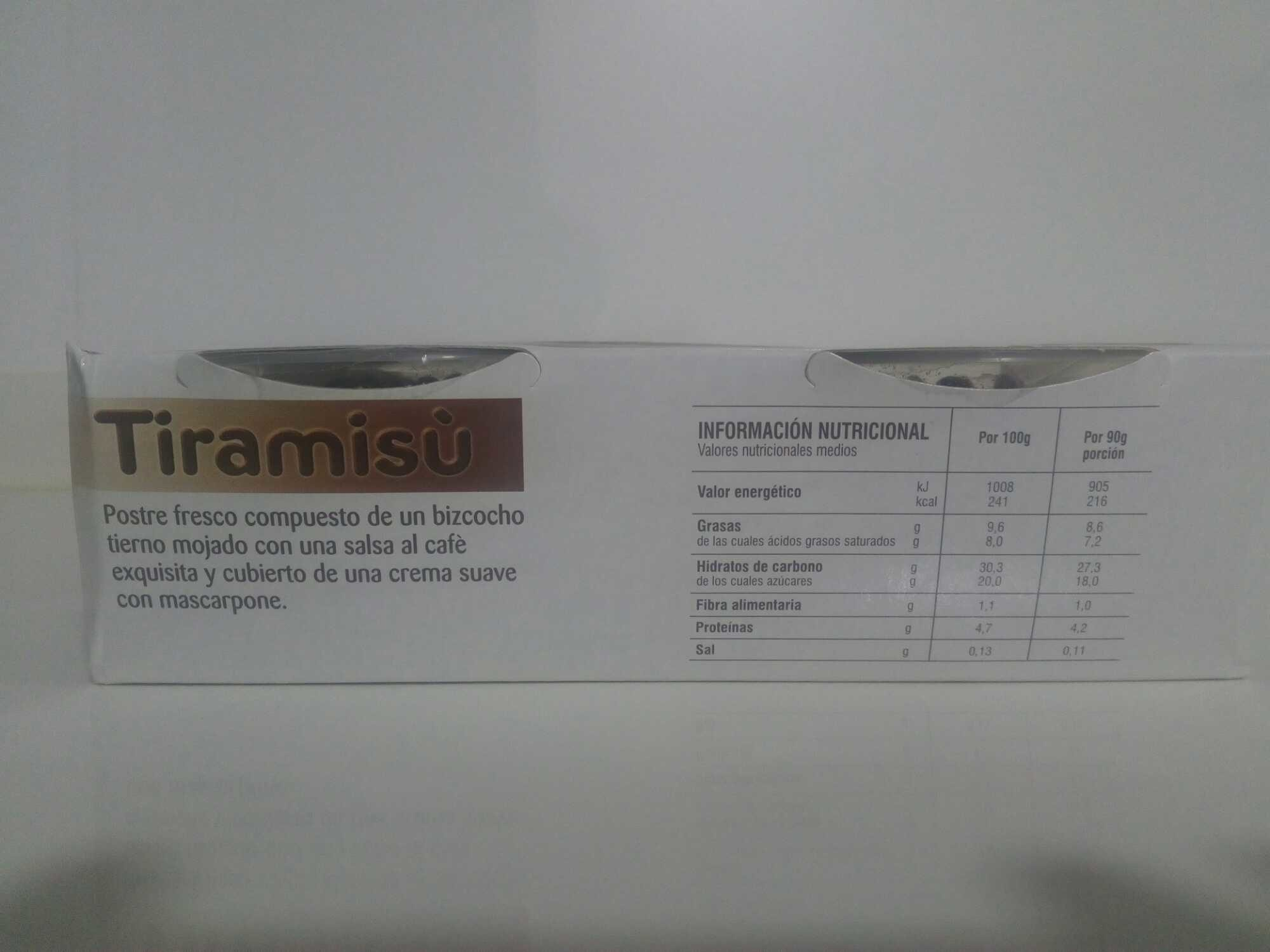 Tiramisú - Informations nutritionnelles - fr