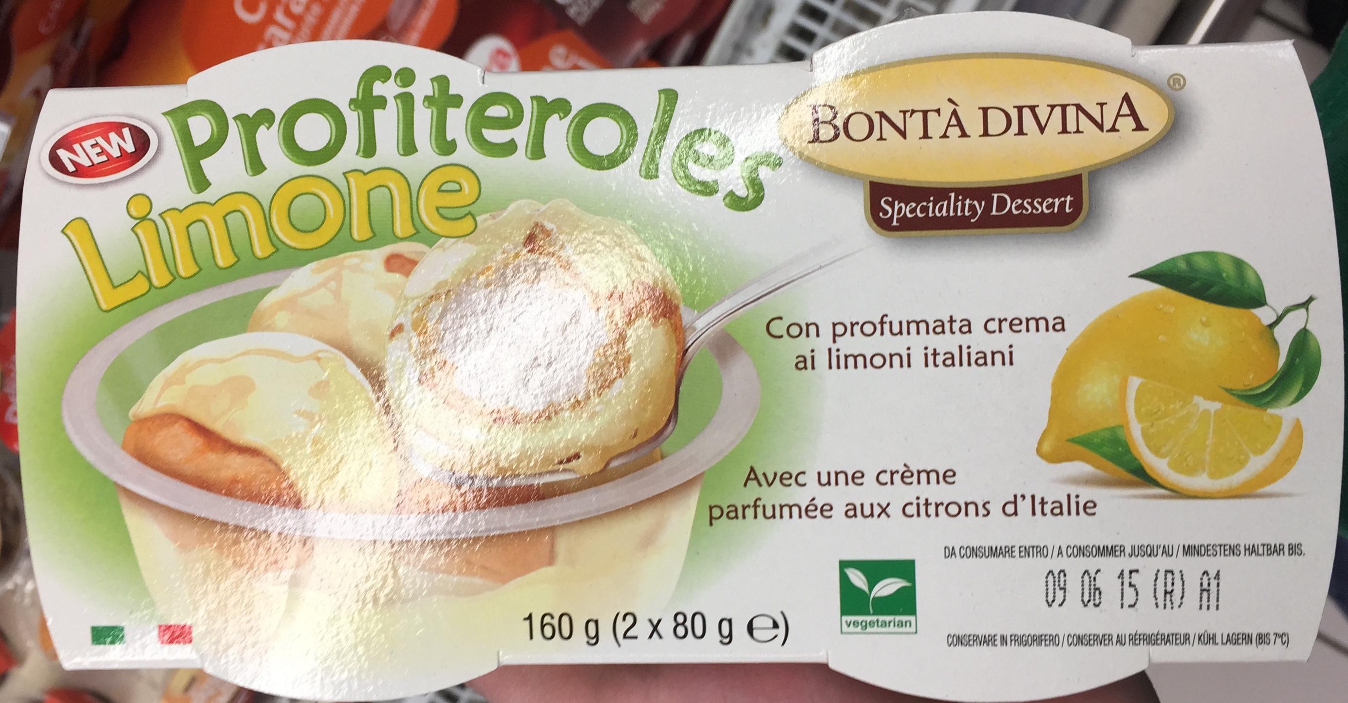 Profiteroles avec une crème parfumée aux citrons d'Italie - Product - fr