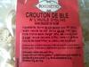 crouton de blé à l'huile d'olive - Produit