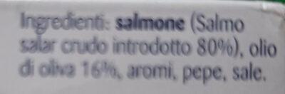 Filetto di salmone - Ingrédients