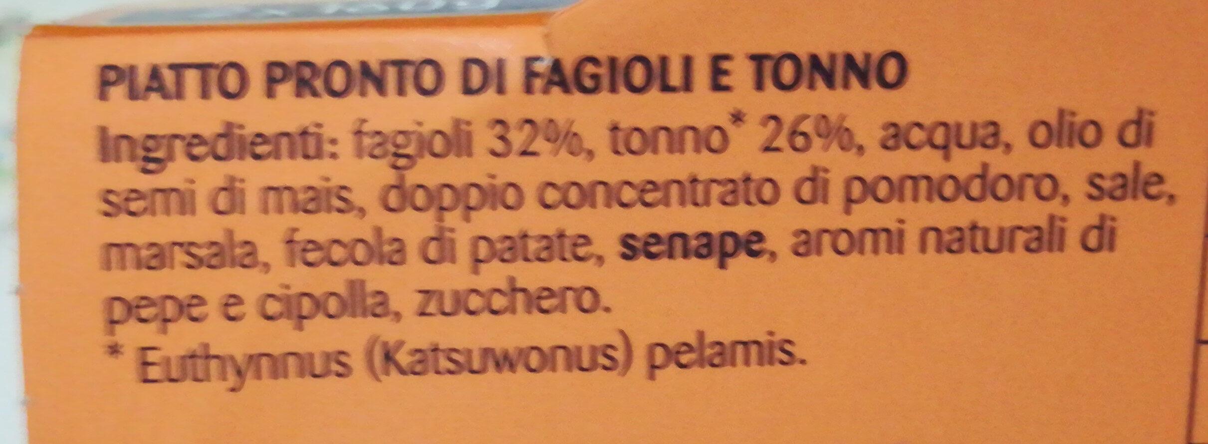 Riomare Congusto Fagioli Tonno GR. 160X2 - Ingredients - it