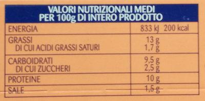 Insalatissime Messicana e Tonno - Valori nutrizionali - it
