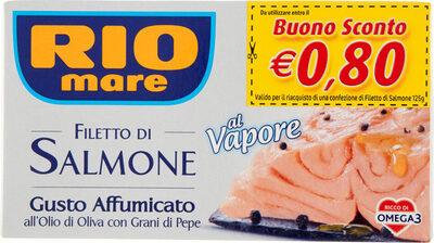 Filetto di salmone gusto affumicato all'olio - Produit - en