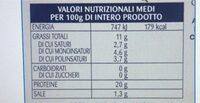Filetto di salmone gusto affumicato all'olio - Informations nutritionnelles - en