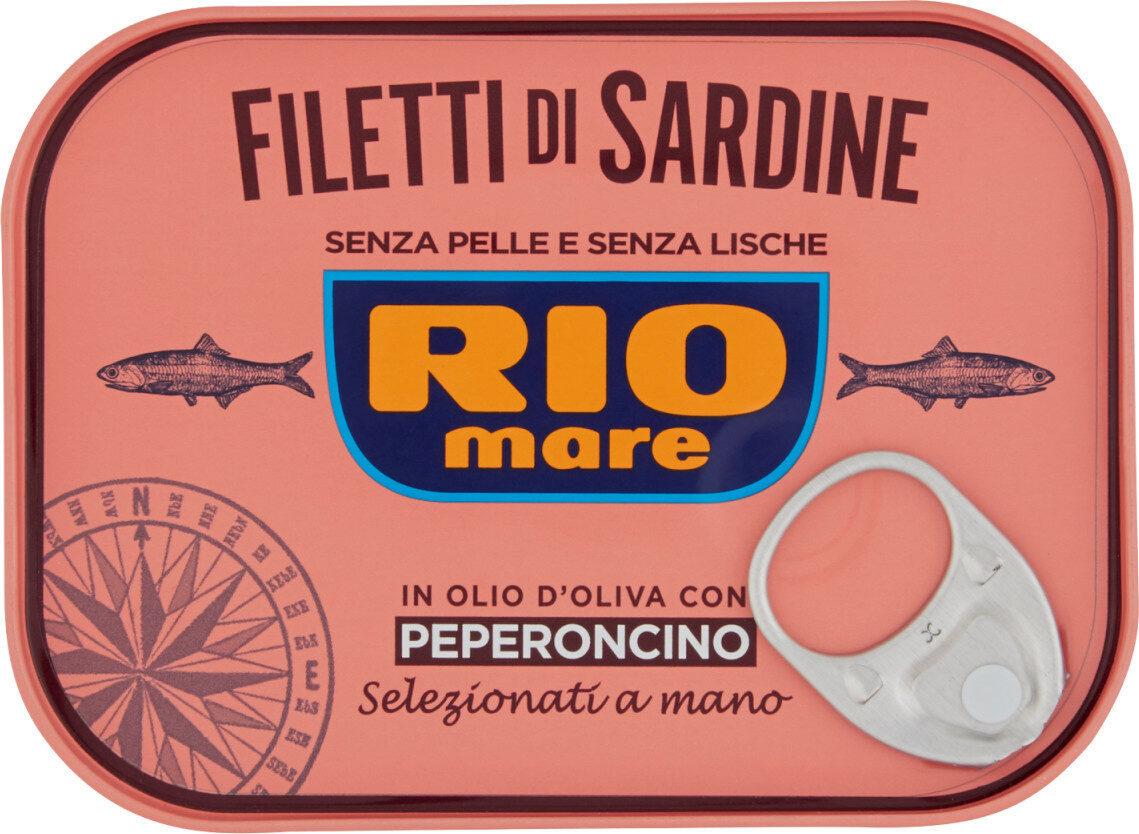 Filetti di sardine in olio d'oliva con peperoncino - Product - it
