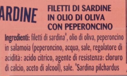 Filetti di sardine in olio d'oliva con peperoncino - Ingredients - it