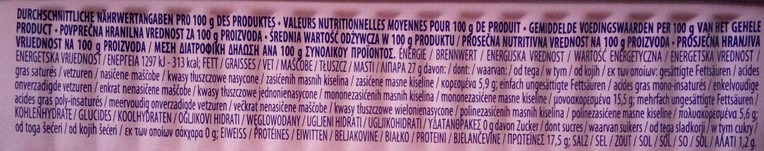Mackerel fillets - extra virgin olive - Voedingswaarden - sr