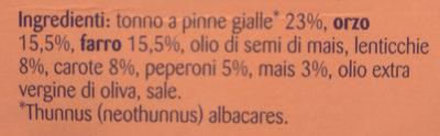Insalatissime orzo farro tonno - Ingredients - it