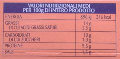 Insalatissime orzo farro tonno - Nutrition facts - it