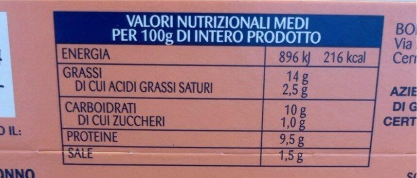 Insalatissime zo - Informations nutritionnelles - it