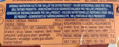 Insalatissime , thon  avec legumes et couscous - Informations nutritionnelles