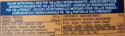Insalatissime Cous Cous e Tonno - Valori nutrizionali - fr
