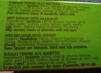 Torrone Tendre Aux Noisettes 150GR - Ingrediënten