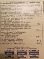 PANETTONE RAISINS SECS - Informations nutritionnelles - en