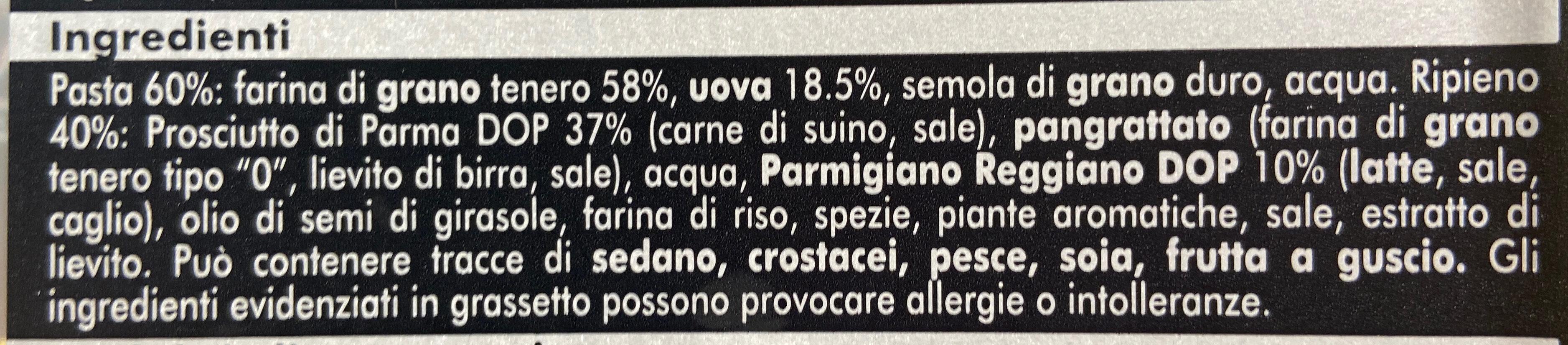 Tortellini al prosciutto di parma - Ingredienti - it