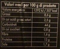 Tortellini al prosciutto di parma - Valori nutrizionali - it