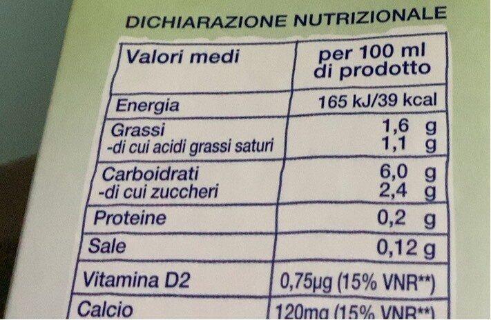Riso e cocco - Informations nutritionnelles - it