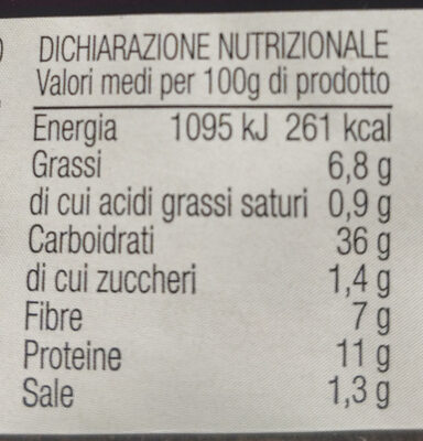 Multi cereali pane di semola di grano duro siciliano con mix di semi - Nutrition facts - it