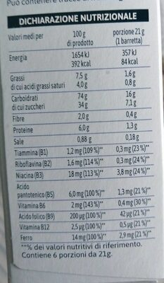 barrette - Nutrition facts - it