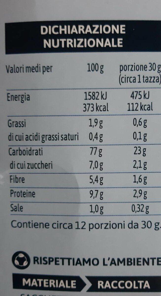 Fiocchi di Riso e frumento integrale equilibrio e piacere - Nutrition facts - it