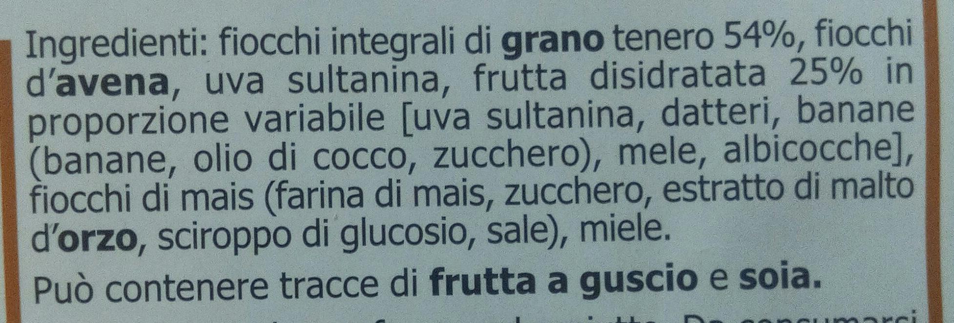 Muesli alla frutta - Ingredients - it