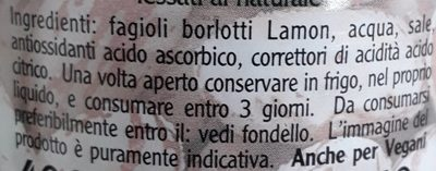 Fagioli Borlotti Lamon - Inhaltsstoffe