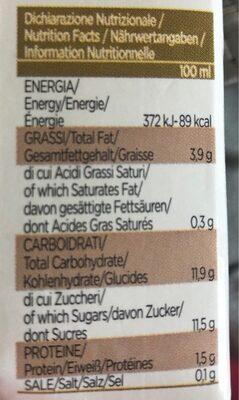 Lait d'amande - Informations nutritionnelles - it