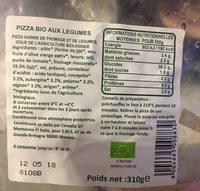 Pizza Bio aux Légumes - Produit - fr