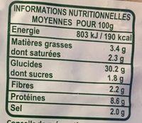 Pizza Bio aux Légumes - Informations nutritionnelles - fr