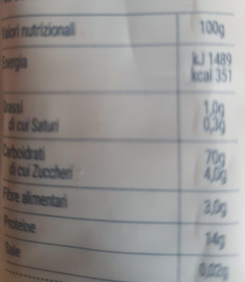 Pâtes Bucatini - Nutrition facts