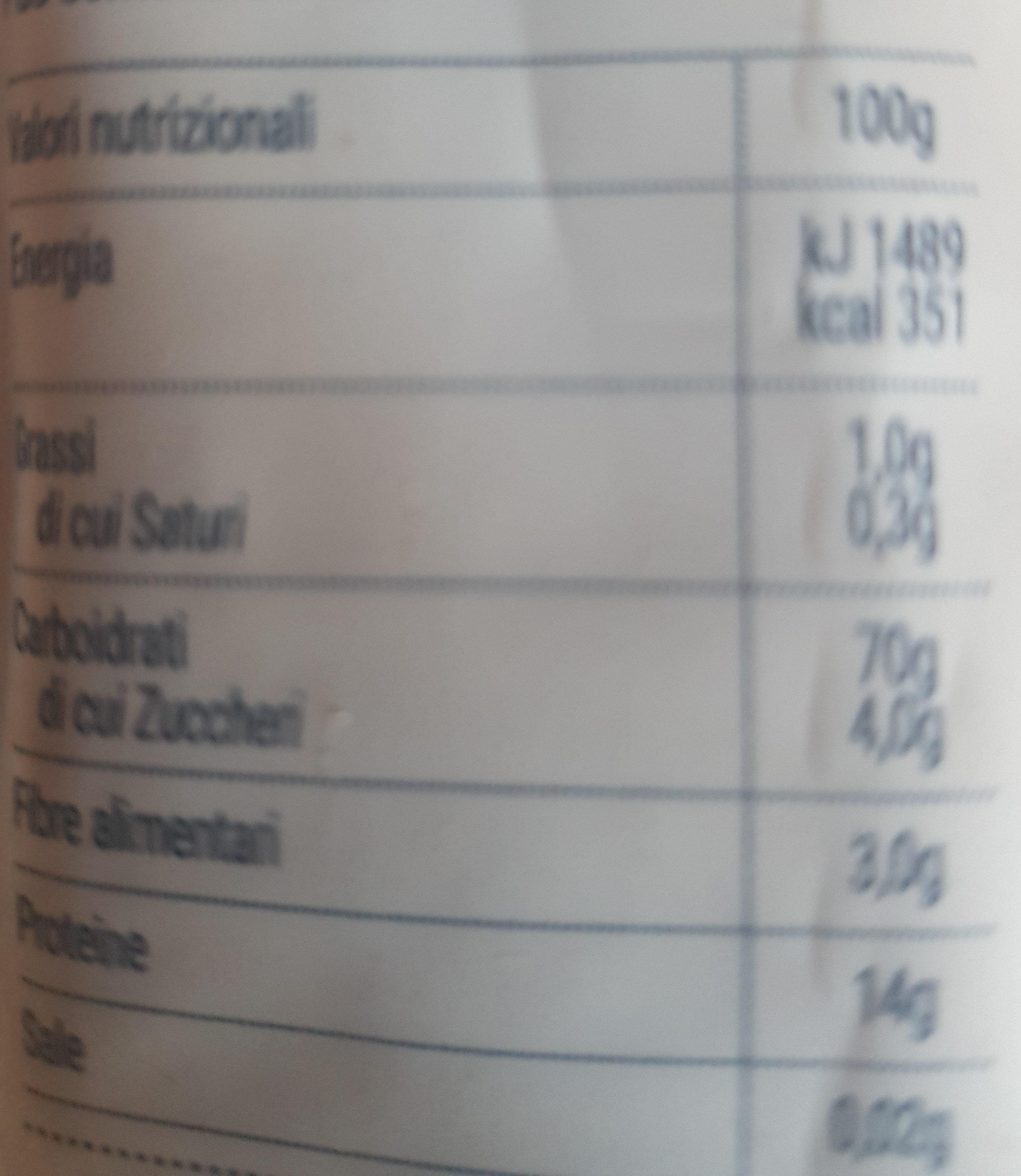 Pâtes Bucatini - Nutrition facts