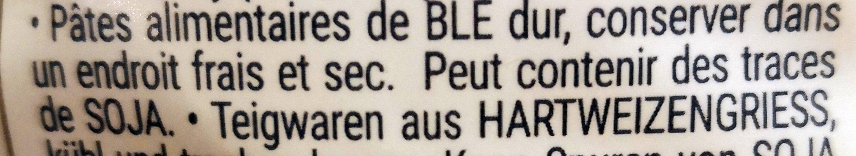 Pennoni rigati - Ingrédients - fr