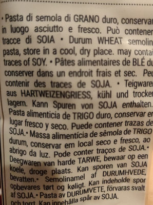 Farfalle rigate n°66 - Ingredients