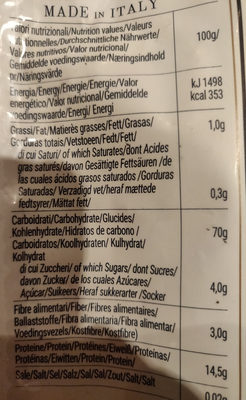 Farfalle rigate n°66 - Nutrition facts