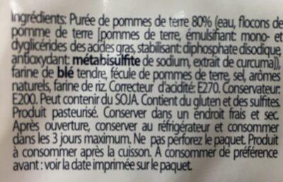 Gnocchi di patate - Nutrition facts - fr