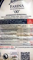 """""""oo"""" FARINA DI GRANO TENERO - Nutrition facts"""