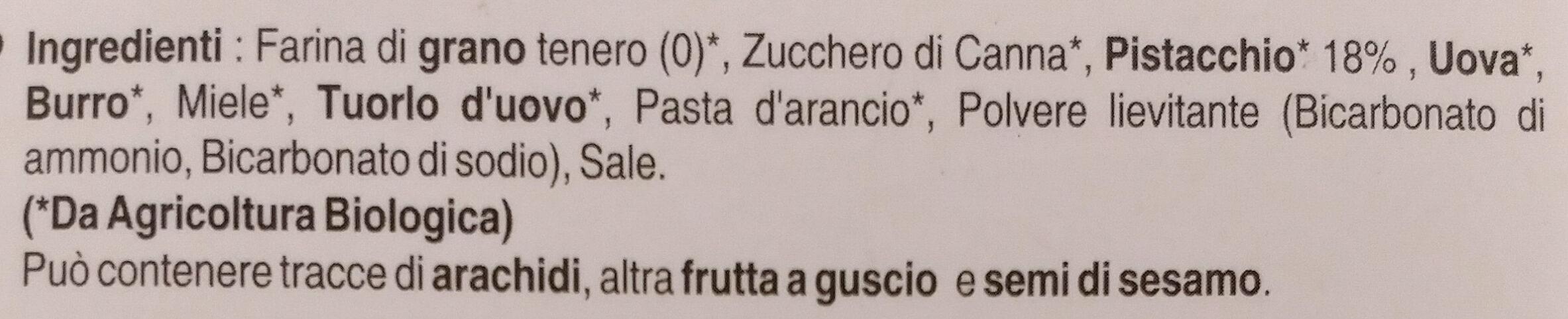 Cantuccini al Pistacchio - Ingrediënten - it