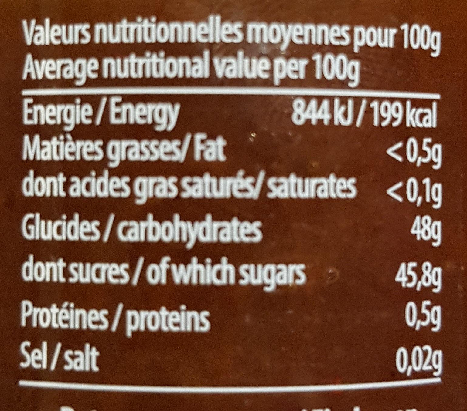 Confiture Fraise - Voedingswaarden - fr