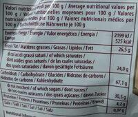 Elledi Party Wafers Cappuccino - Nutrition facts - en