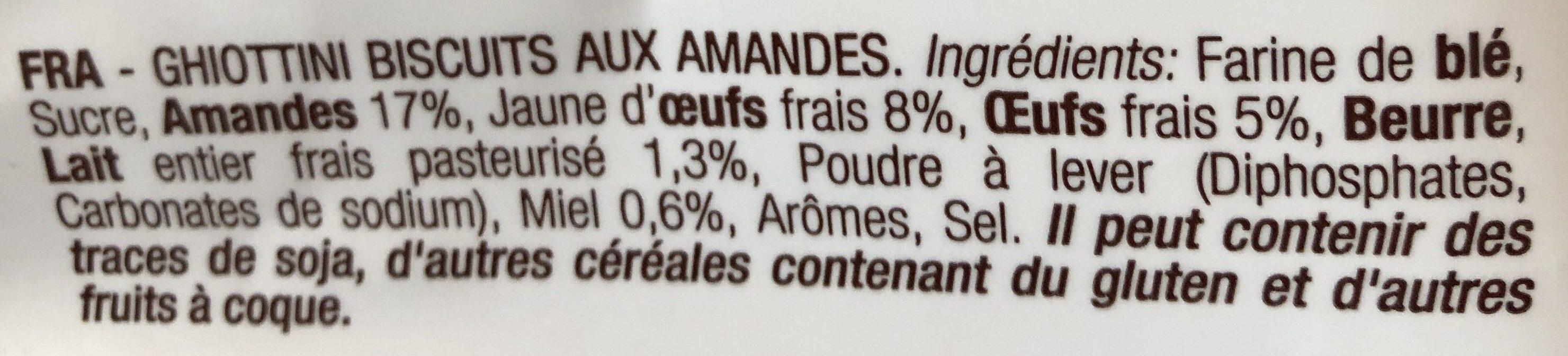 Cantuccini - Ingrediënten - fr