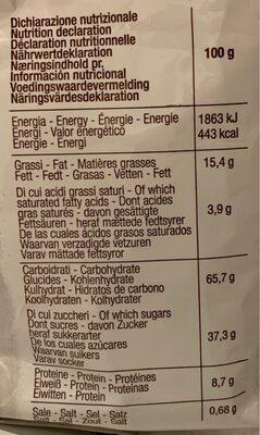 Cantuccini - Voedingswaarden - fr