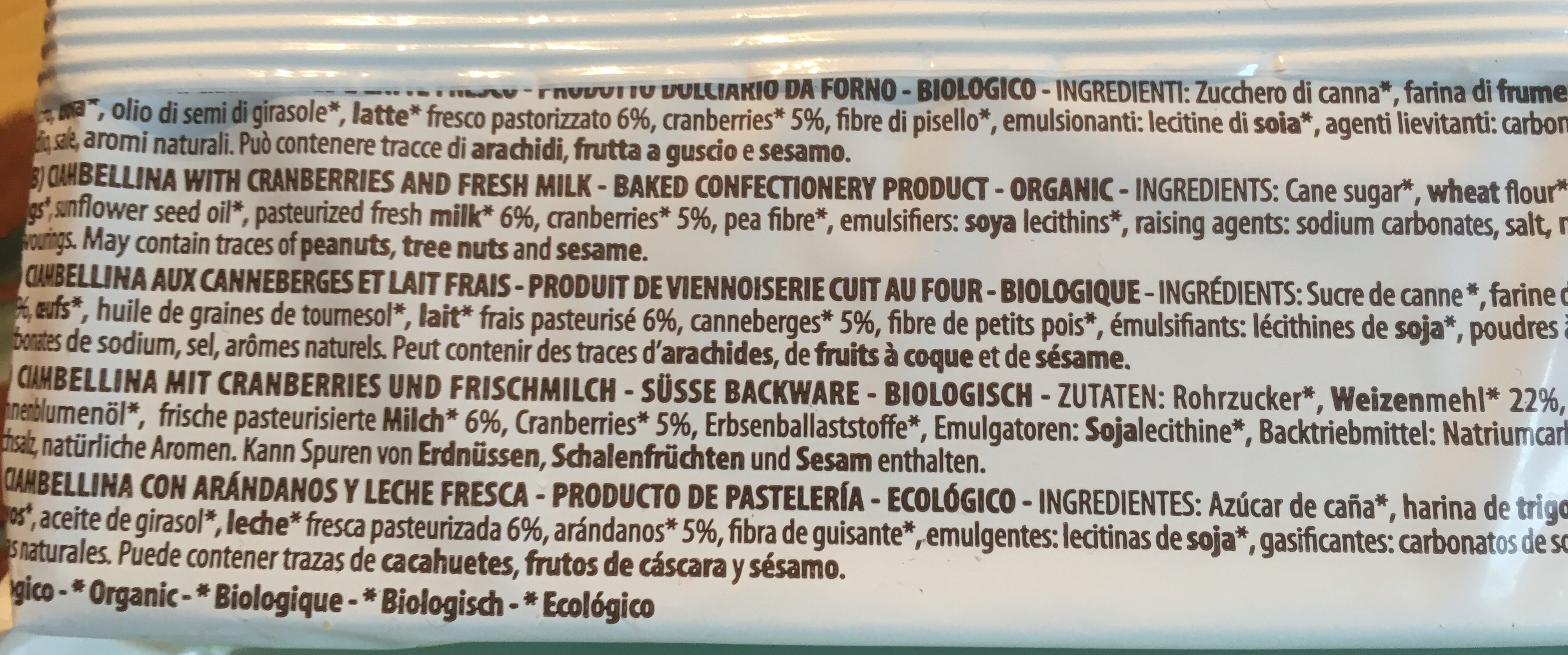 Ciambelline bio - Ingredienti - it