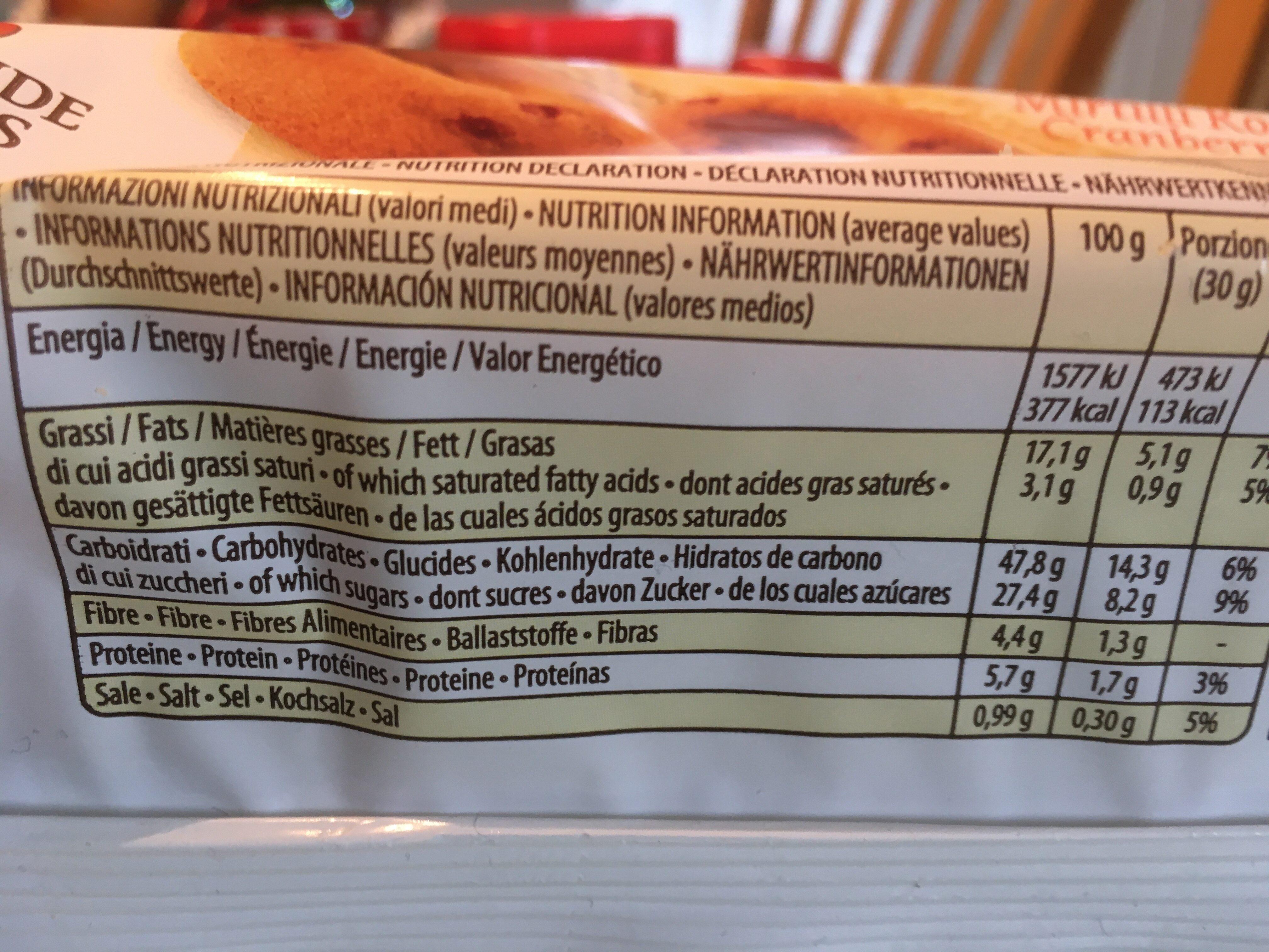 Ciambelline bio - Valori nutrizionali - it